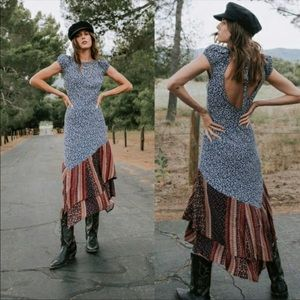 NWT Free People Aurelia Midnight MIDI Dress